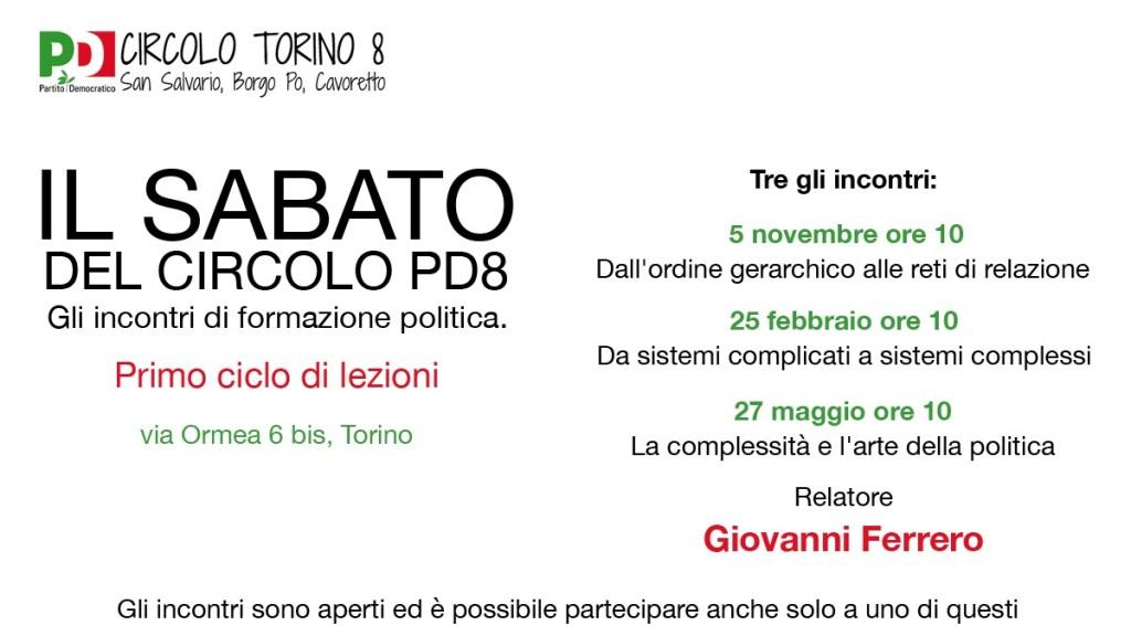 Il sabato del circolo: incontri formazione politica